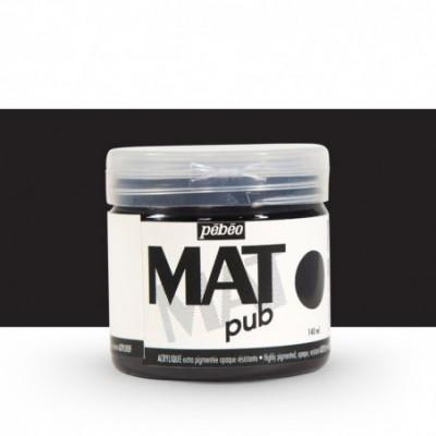 Pintura acrílica Mat Pub Pébéo Negro 24