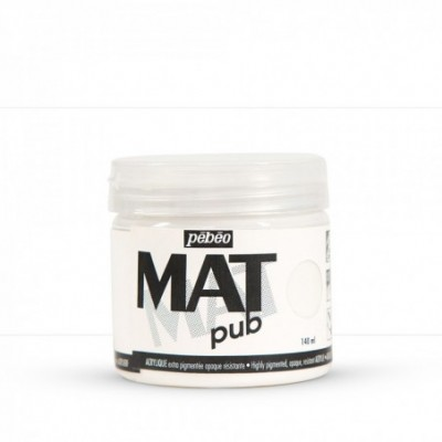 Pintura acrílica Mat Pub Pébéo Blanco permanente 25