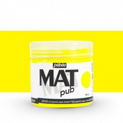 Pintura acrílica Mat Pub Amarillo fluorescente 26