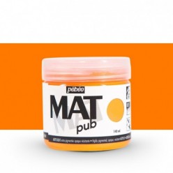 Pintura acrílica Mat Pub Naranja fluorescente 27