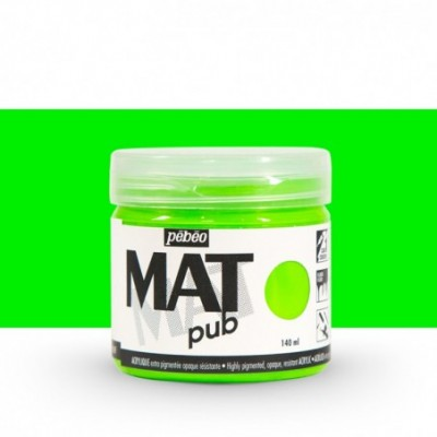 Pintura acrílica Mat Pub Verde fluorescente 29