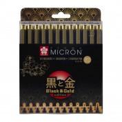 Pigma Micron Sakura Set 12 brushpen Black&Gold