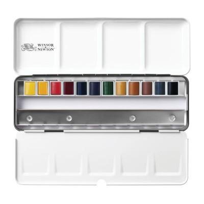 Winsor&Newton Caja metálica Black Box 12 1/2 acuarelas