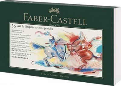 Faber-Castell 180011 - Estuche de Metal vacío para 36 lápices para artistas