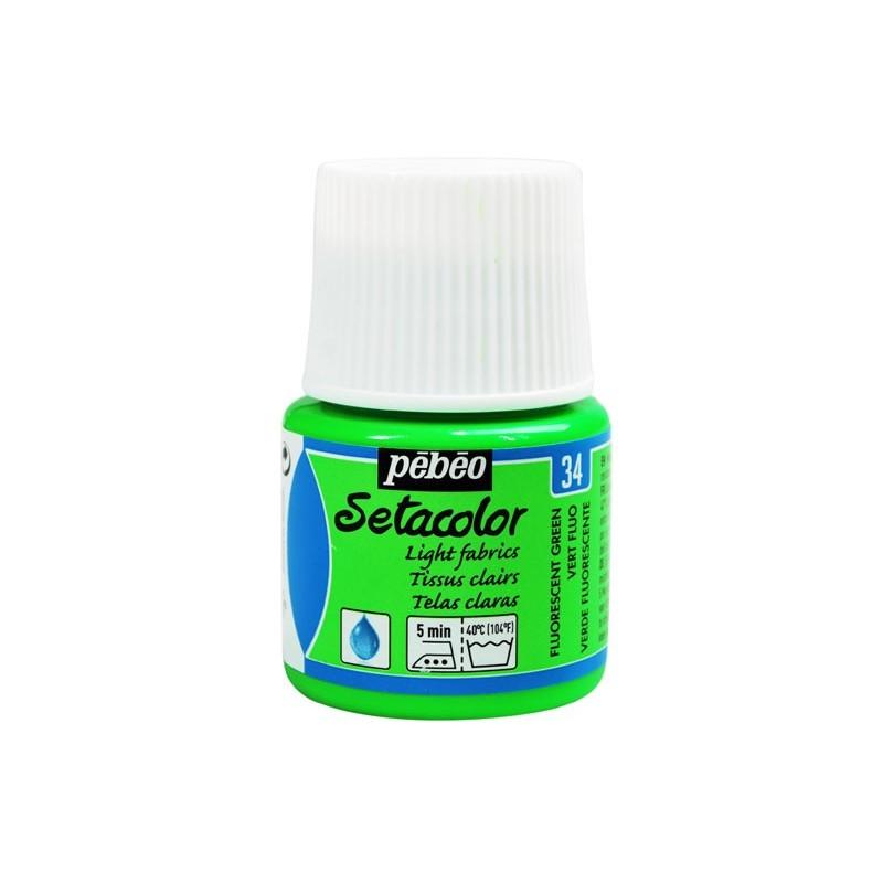 Pintura para tela setacolor pintura textil fluorescente 45 for Pintura pared verde