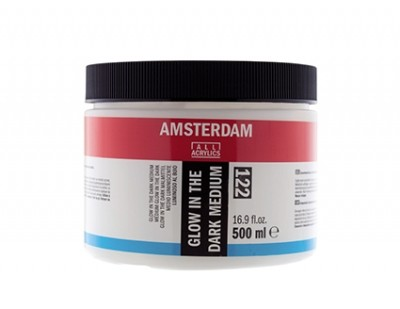 Gel Medium Amsterdam 122 Pintura Glow in the Dark 500 ml