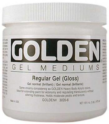 Gel Medium Regular Gel Golden 237 ml Gloss