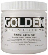 Gel Medium Regular Gel Golden 237 ml Gloss