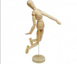 Maniquí articulado de madera 50 cm A468004