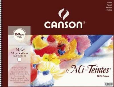 Bloc Canson Pastel Mi-Teintes blanco de 160gr A3 Ref. 400030227