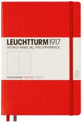 Bloc Leuchtturm Medium Note Book Con Puntos A5 - Rojo