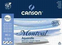 Canson Montval Bloc Maxi Acuarela 100 hojas 24x32 cmRef. 0807353 IP