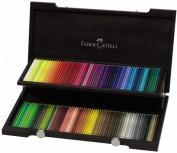 Lápices Colores Faber Castell Polychromos 120 colores Caja Madera