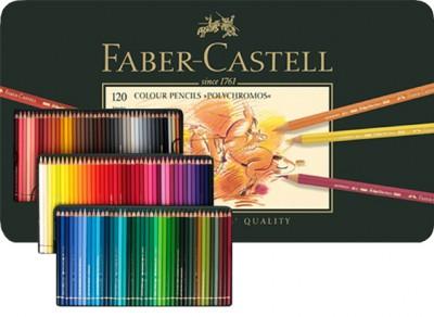 Lápices Colores Faber Castell Polychromos Caja 120 colores