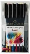 Estuche Rotuladores Pincel Faber Castell 6 colores Basic
