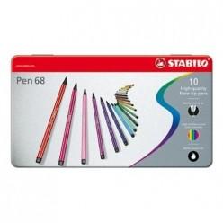 Rotuladores Stabilo Pen 68 Caja 10 colores