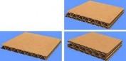 Cartón microcanal marrón 2 caras 2~3mm 15 hojas
