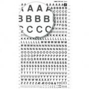 Letras Transferibles Decadry nº1 Letras Negras 2 HOJAS