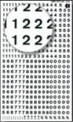 Números Transferibles Decadry Nº6 Negro 2 HOJAS
