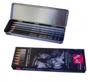 Caja metalálica con 6 lápices Caran d'Ache Grafwwood 775306