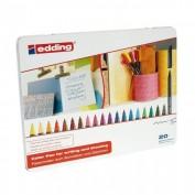 Edding 1200 Rotuladores Caja 20 colores