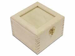 Cajas de Pino Cuadrada con Cristal 7625