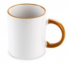Taza Cerámica Mug Blanca con perfil de color vi145.10