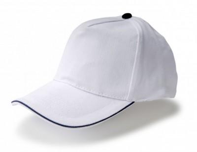 Gorra de algodón con perfil azul Vi1476.4