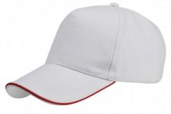 CAJA 100 GORRAS de algodón con perfil rojo Vi1476