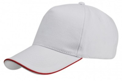 Gorra de algodón con perfil rojo Vi1476