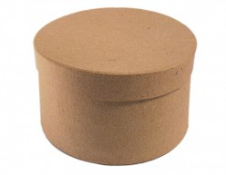 Caja papel maché redonda Insspiro pm1054b