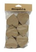 6 cajas forma de corazon Decopatch ev006o