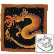 Pañuelo Seda Crepe China 5 Predibujado SGS848 Dragon