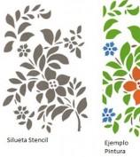 Stencil Hojas y Flor Artemio ATBL76