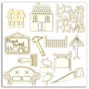 Toga AB12 Formas de madera Home Sweet Home