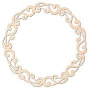 Circulo Decorativo de Madera Stamperia KLS195