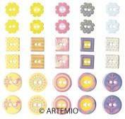 Botones de resina  Artemio 11006111
