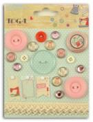 Botones Scrapbooking Toga AF39
