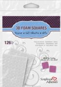 3D Foam Squares Mix Medio Adhesivos Blancos